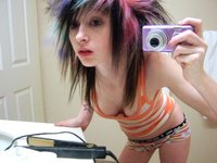 Emo Teen On Meth Posing